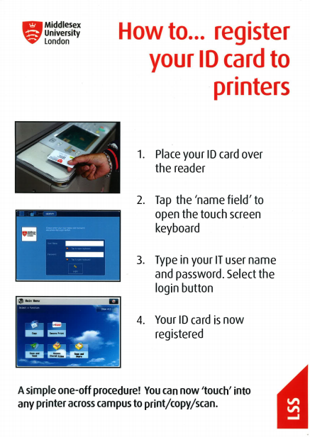 How to register yur ID card to the printer